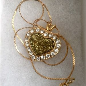 Jewelry - Heart 14K gold filled pendant with cubic zirconia.